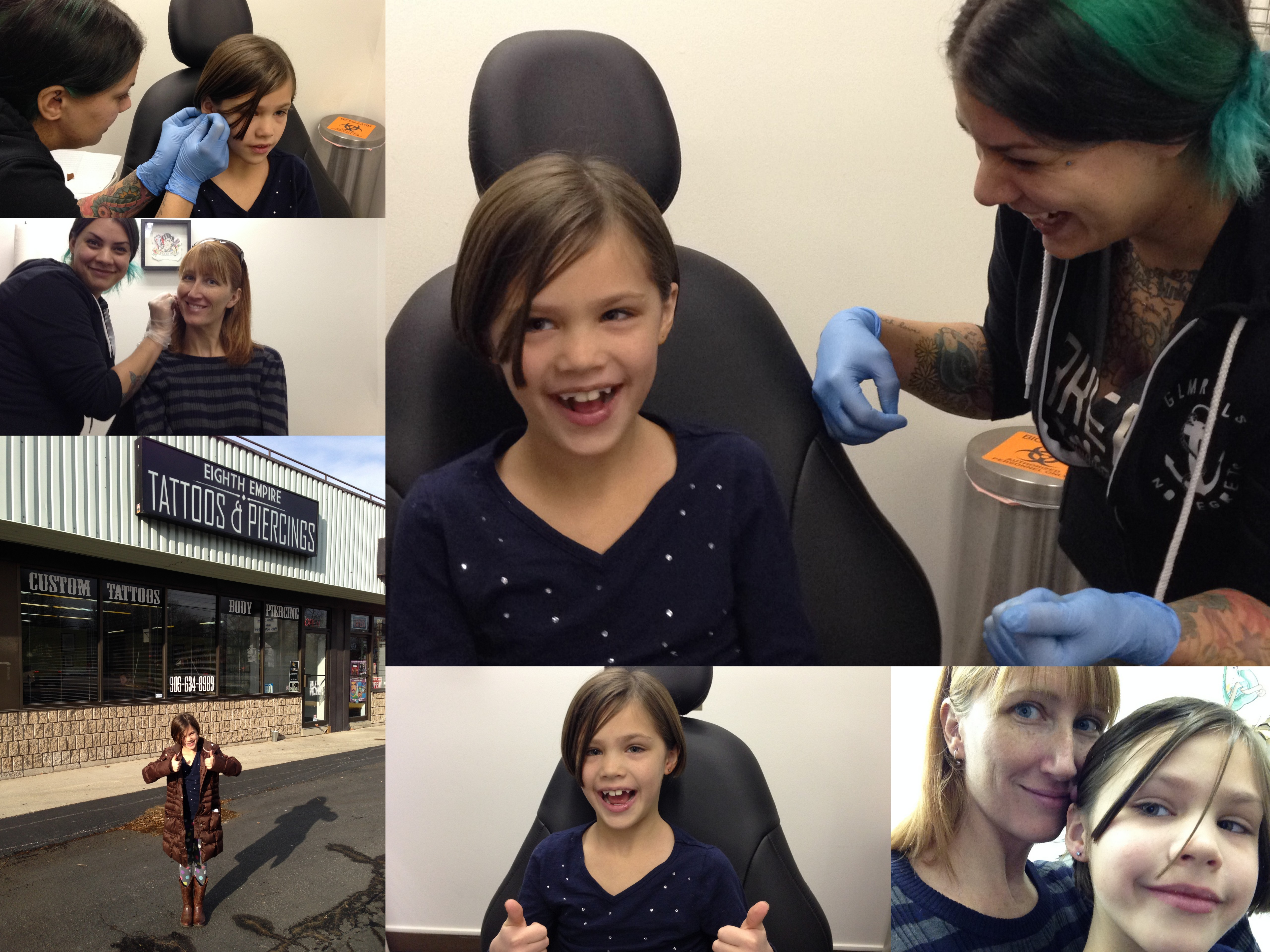 Mother daugther ear piercings and why we went to a tattoo for Piercing salon