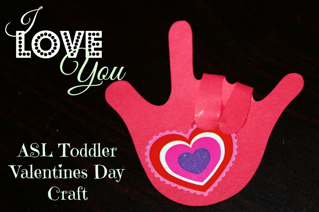 ASL I Love You Valentines Day Craft