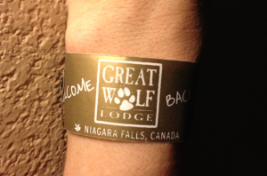 Great Wolf Lodge wristband