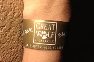 Great Wolf Lodge wristband